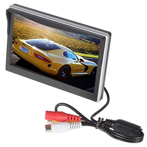 FANMURAN Monitor de Pantalla TFT LCD HD de 5 Pulgadas para cámara de Copia de Seguridad inversa de Vista Posterior del Coche 800 * 480