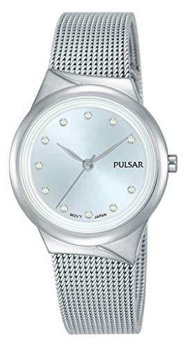 Pulsar Quarz Damen-Uhr Edelstahl mit Metallband PH8439X1