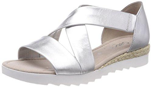 Gabor Shoes Damen Comfort Sport Riemchensandalen, Mehrfarbig (Silber (Jute), 38 EU
