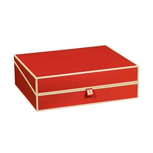Semikolon (352572) Dokumentenbox red (rot) - Aufbewahrungs-Box für Dokumente im A4 Format - geräumige Box im Format 31,5 × 26 × 10 cm