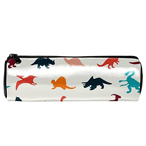 Estuche de lápices de dinosaurios con diseño de dinosaurios de dibujos animados, bolsa de almacenamiento, organizador de cosméticos para la escuela, adolescentes, niñas, niños, hombres y mujeres
