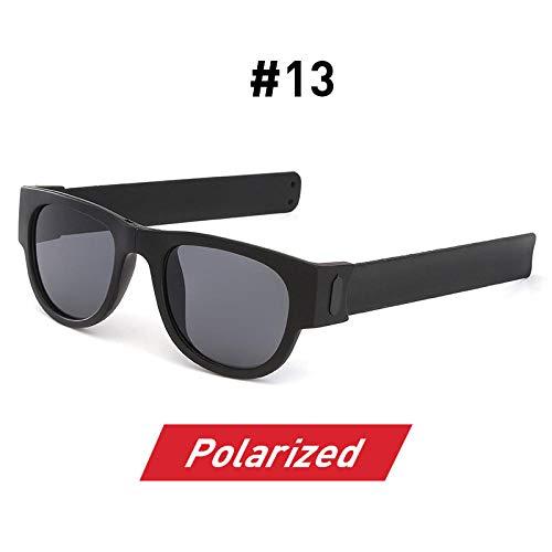 LAOGEFJ Sonnenbrille Fancy Clap Wrist Strap Herren Polarisierte Handgelenk Sonnenbrille Faltbare Damen Roll Armband Faltbare Sport Sonnenbrille