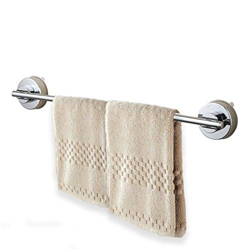 ALEENFOON Handtuchstange mit Saugnapf, Edelstahl Handtuchhalter Ohne Bohren Wandhandtuchhalter für Bad Küche, 40 cm