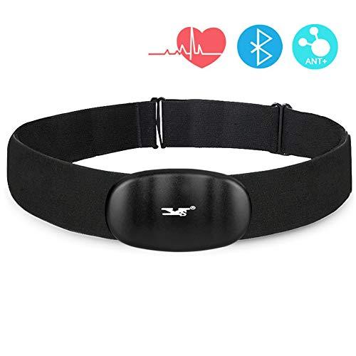 Monitor de ritmo cardíaco DINOKA Bluetooth 4.0 ANT+, inalámbrico deportivo, sensor de frecuencia cardíaca, monitor de pecho, equipo de fitness para iPhone y teléfonos Android