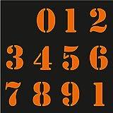 Sticker Mimo Adhesivos con números vintage para moto, grandes patrocinadores, motocross, casco, calcomanías para coche Vespa Scooter (Fosforescente naranja)