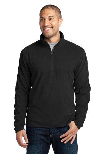Port Authority Men's Microfleece 1/2 Zip Pullover M Black