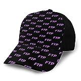 Purple FTP Pattern 野球帽、快適で通気性の調節可能なサイズの女性用メンズ野球帽に沿って湾曲したトレンディなプリント