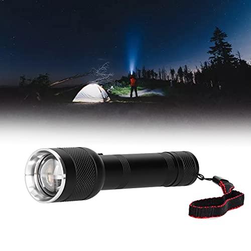 Linterna para exteriores, modo de inundación de linterna y modo de concentración Perlas de lámpara P50 para turismo de aventura al aire libre para cargar el banco de energía de la