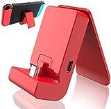 TwiHill Charging Dock para Nintendo Switch / Switch Lite, Switch Dock com porta de carregador USB tipo C (vermelho)