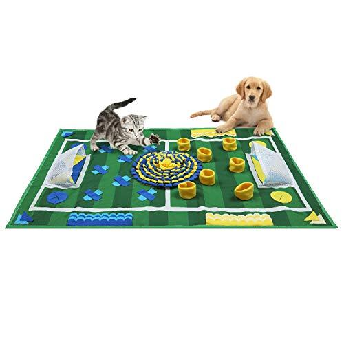 Zacro Schnüffelteppich für Hunde, Weich Puppy Pad, Trainieren Matte, Futtersuche und Stressabbau, (25.6x39.4in / 65x100cm)