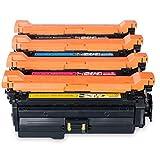 Reemplazo de cartucho de tóner compatible para HP CE400A 507A para HP Color LaserJet Pro M551DN M575DW M551N Impresora de impresora Láser Tambores de tóner Operación set