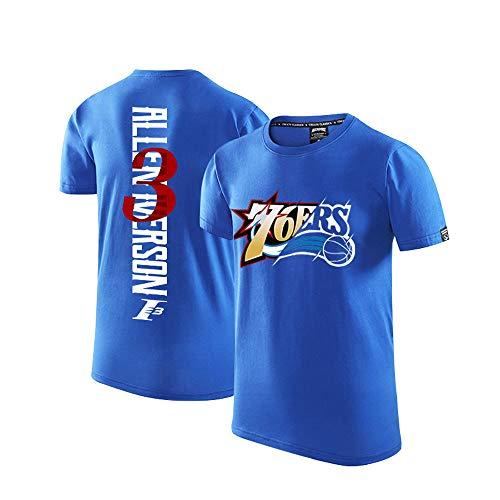 Philadelphia 76ers Iverson Camiseta de Manga Corta Camiseta Deportiva de Entrenamiento de...