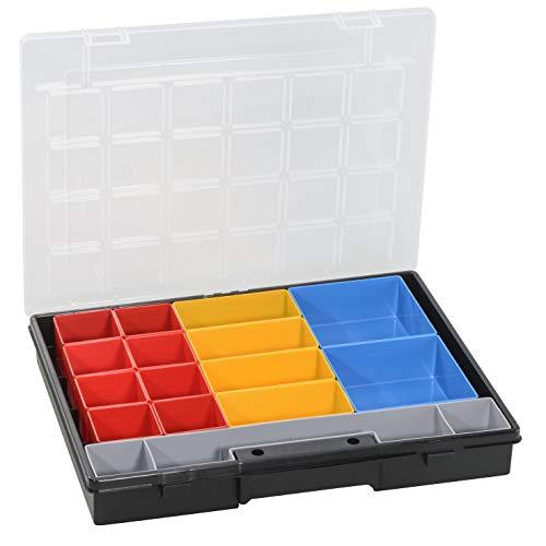 Allit RL457104 EuroPlus Flex 37-17 Sortimentskasten Sortierkasten, herausnehmbare Einsatzboxen 457202, Schwarz