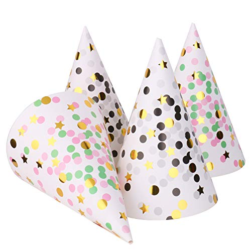 Boieo Kid's Birthday Party Hats, 12 pcs