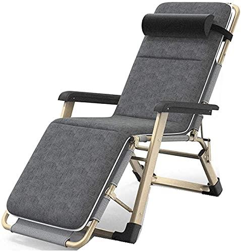 Sillas de playa de silla de gravedad cero reclinable al aire libre, tumbona de reclinación ajustable portátil, tumbona plegable de jardín, reclinable para acampar, patio de sol Playa plegable tumbona-