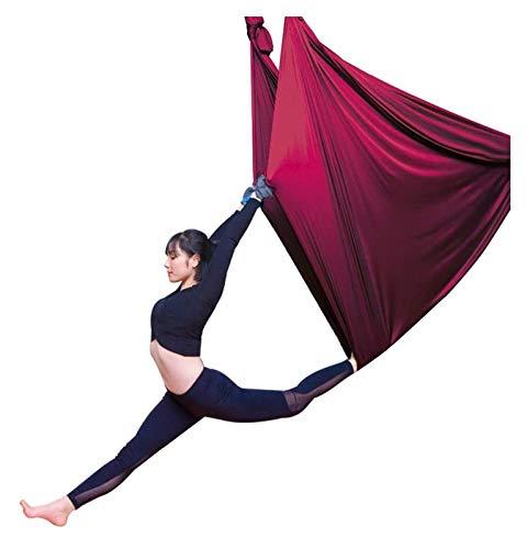 SHUHANG Columpio Sensorial Sedas de Interior Yoga Aéreo Terapia Columpio Hamaca Columpio Volador Antigravedad (Color : Red, Size : 500x280cm)