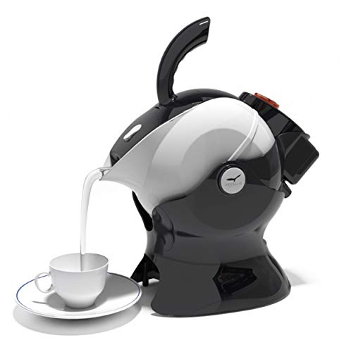 Uccello Electric Safety Kettle | Black Tipper Base Included | Effortless Pour Every Time | Daily Living Drinking Aid For Disabled and Seniors | 1.5 Liters | Black and White