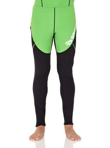 Grifone - Sutton - Collants Homme, multicolore (verde/negro), taille L