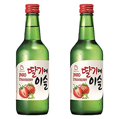 Jinro Strawberry Flavour Soju 360ml 13% Alc./Vol(Pack of 2)