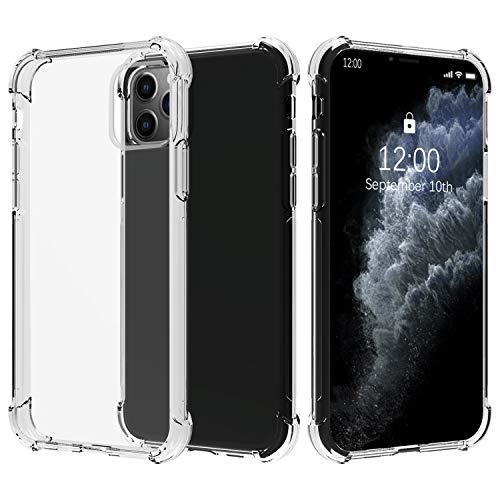Migeec Hülle für iPhone 11 Pro Transparent [Stoßfest] Weiche Silikon [Kratzfest] Flex TPU Bumper Handyhülle Durchsichtige Schutzhülle