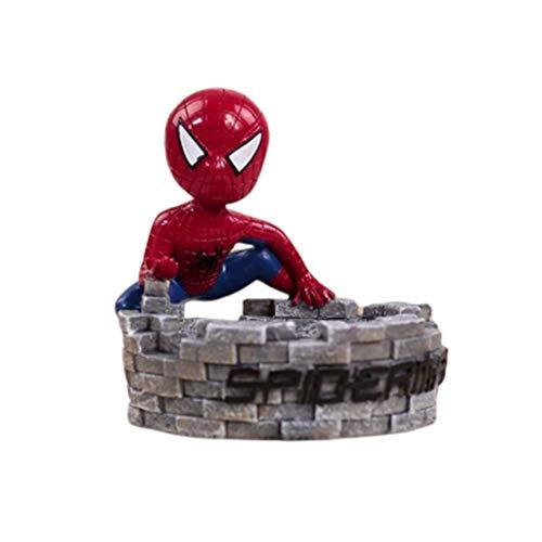 Jiji Asbak Asbak met Deksel Spiderman Masker Helm Hars Hand Maak Asbak Thuis Buiten Kerstmis Familie binnen