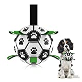 DLQYDM Dog Soccer Ball, Outdoor Dog Toys and Dog Water Toy, Dog Tug Toy, Interactive Dog Toys for Small & Medium Dogs (6 Inch)