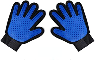 Boolavard Pet Grooming Glove - Gentle Deshedding Brush Glove - Efficient Pet Hair Remover Mitt - Enhanced Five Finger Desi...