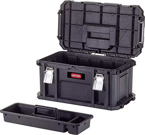 Keter Connect tool - Cassetta degli attrezzi, colore: Nero/Rosso