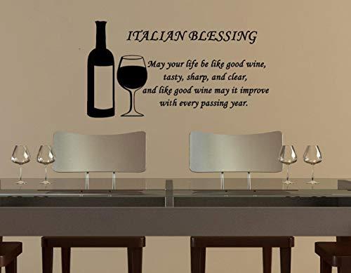 Italiaanse zegen kan uw leven worden als goede wijn muursticker
