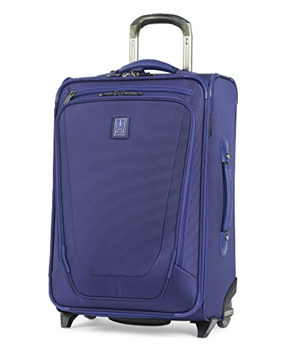 "Travelpro Luggage Crew 11 22"" Carry-on Expandable Rollaboard w/Suiter and USB Port, Indigo"