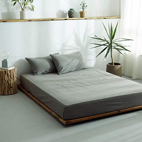 DSman Protector de colchón/Cubre colchón Acolchado, antiácaros, Sábana de algodón de una Sola Pieza Color sólido-14_180 * 200cm