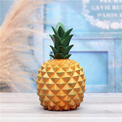 Erfhj Abstract hars ananas spaarpot decoratie van het huis geld spaarpot creatieve doos deco ananas wit