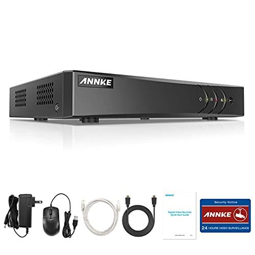 ANNKE Kit de Seguridad 8CH DVR 5MP Lite AHD/TVI/CVI/CBVS/IP 5 en 1 H.265+ P2P CCTV Seguridad Detección de Movimiento Alarma Email para Cámara de Vigilancia-Sin HDD