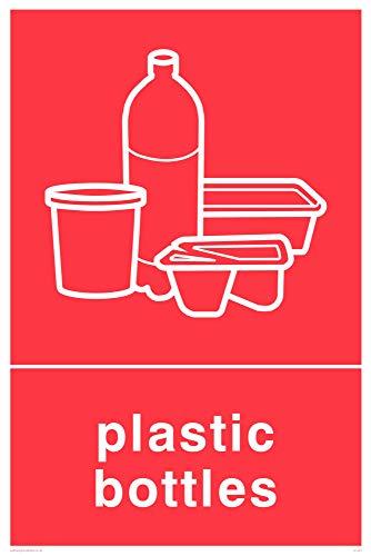 Viking signos ij1421-a4p-3m recycling-plastic botellas señal, 3mm, rígido, 300mm H x 300mm W