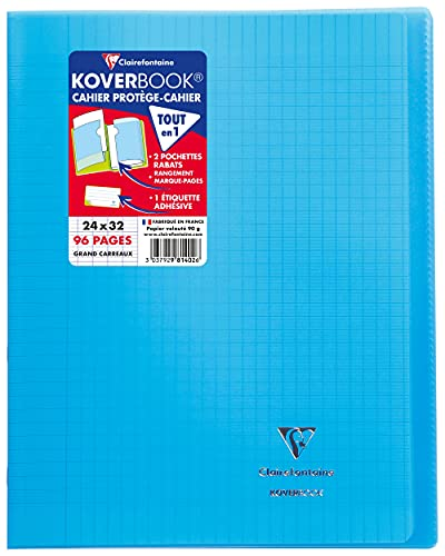 cahier clairefontaine 24x32 96 pages koverbook carrefour
