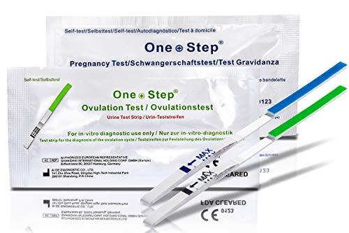ONE STEP 40 x Test di ovulazione ultrasensibili (20mIU/ml) + 10 x Test di Gravidanza ultrasensibili 10 mIU/ml