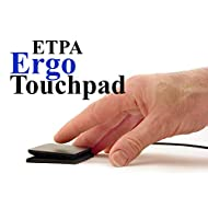 "Ergo Touchpad ETP001ETP Wired USB - Black - Low Profile - Programmable and Multi-Touch with Download of Free Software - 1 15/16"" X 2 9/16"" X 3/8"" Dimension"
