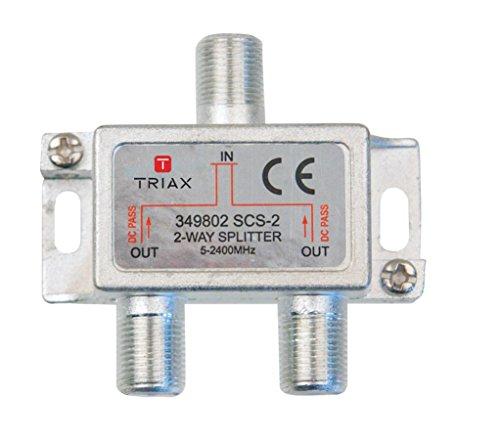 Triax 349802Metallic Kabel Splitter Splitter/Combiner Kabel Splitter Kombinierer (Gold Metallic, Typ F, 53mm, 16mm, 52mm, 53mm)