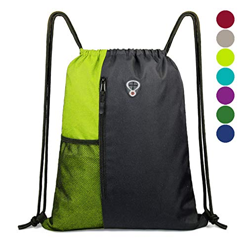 Gym-Bag-Drawstring-Backpack-for -Women Sports Backpack With Water Bottle Mesh Pockets