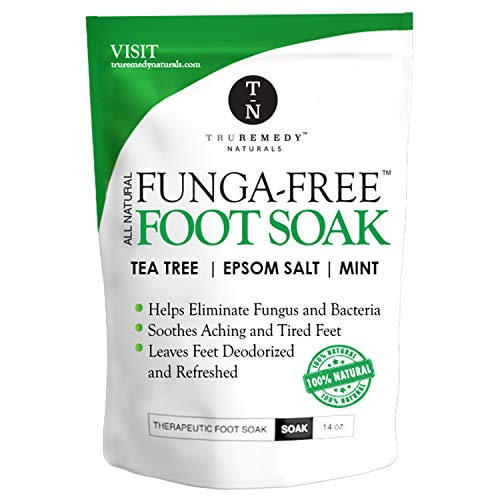 Tea Tree Oil Foot Soak with Epsom Salt & Mint, Feet Soak Helps Toenail System, Athletes Foot & Stubborn Foot Odor - Foot Bath Salt Softens Calluses & Soothes Sore Tired Feet, 14 Ounce