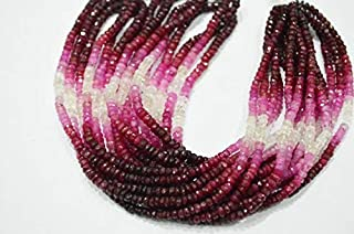 Jewel Beads Natural Beautiful jewellery 10x16 Inch Strand,NATURAL Shaded Ruby Micro Faceted Rondelles, 3mmCode:- BB-20023