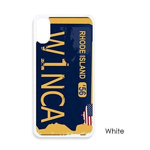 beatChong Matrícula EE.UU. Número Coche Americano para Los Casos iPhone Blanco X Phonecase Regalo Caso De La Cubierta De Manzana