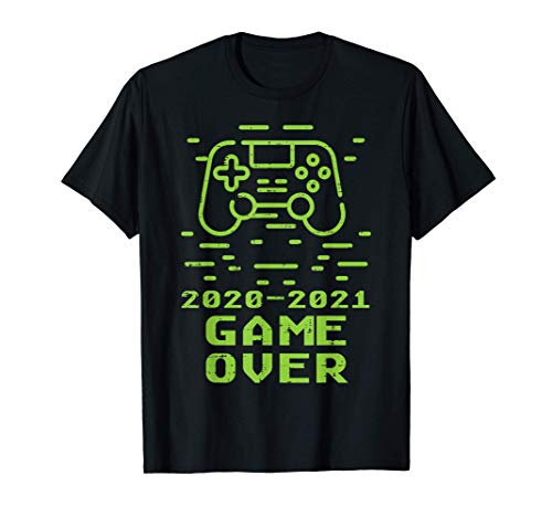 2020 2021 Game Over Controller Cool Video Gaming Gamer T-Shirt