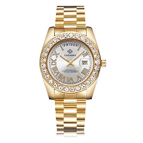 BZN Smart Watch Case 6866 Fashion Life Reloj de cuarzo con banda de acero dorado resistente al agua (color plateado)