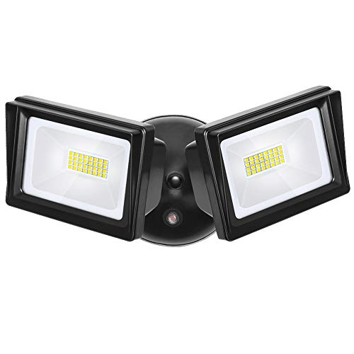DEWENWILS 62W Dusk to Dawn LED Security Light Outdoor, 5400LM Super Bright Flood Light with Photocell, 5000K Daylight, IP65 Waterproof 2 Adjustable Heads Exterior Light for Garge, Backyard, Porch