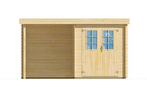 Lillevilla LV329 Gartenhaus, Holz, naturbelassen, 386x226x210cm