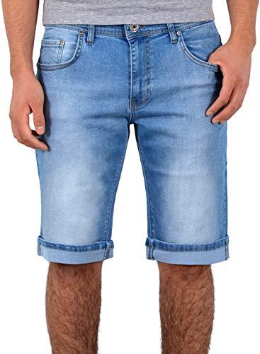 ESRA Kurze Hosen Herren 3/4 Hose Herren Shorts Herren Kurze Jeans Hose Bermuda A360