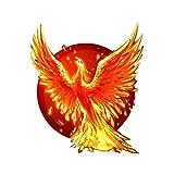 LHFSM 12.3 * 14.1cm Burning Etiqueta Phoenix Alquiler de PVC de Color Personalizado