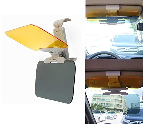2 In 1 Blendschutz Auto Sonnenblende Verlängerung Blendschutz Auto + Nachtsicht Sichtschutz,Yellow