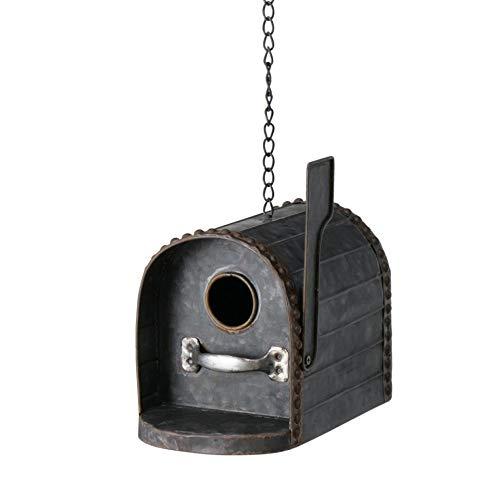 CasaJame Zink Vogelhaus für Balkon und Garten, Nistkasten, Haus für Vögel, Vogelhäuschen, zum Hängen in Form eines Briefkasten Postbox 22x14x16cm